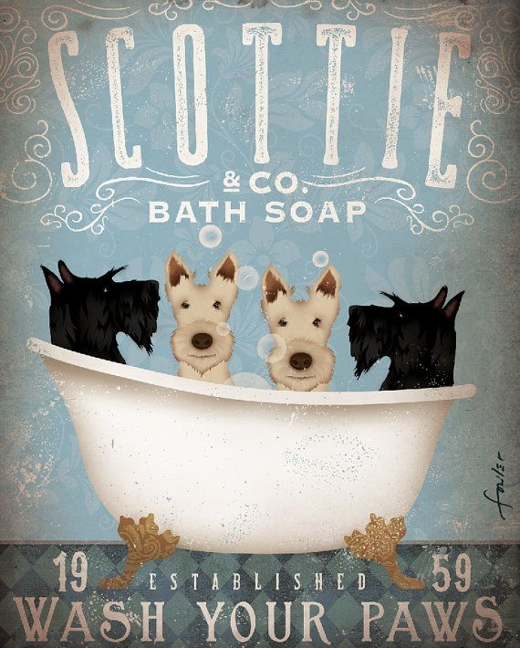 Red Husky Siberian Husky Dog Dog Art Bath Bathroom Art Dog