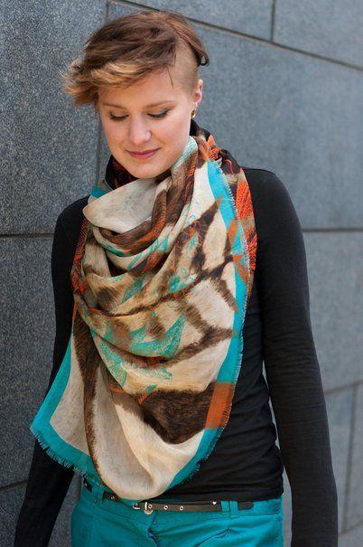 die wasserfall technik f r t cher scarf t cher binden guide diy scarves pinterest. Black Bedroom Furniture Sets. Home Design Ideas