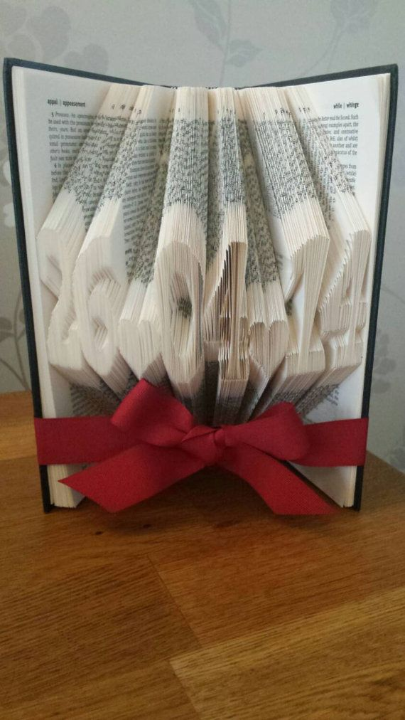 Date Book Fold Wedding Gift Special Art Birth Folded