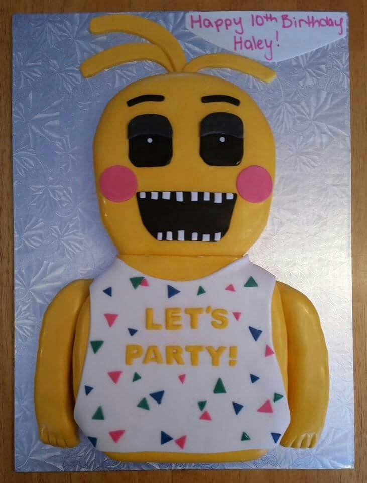 Five Nights At Freddys 2 Chica Cake Cakes Pinterest Freddy