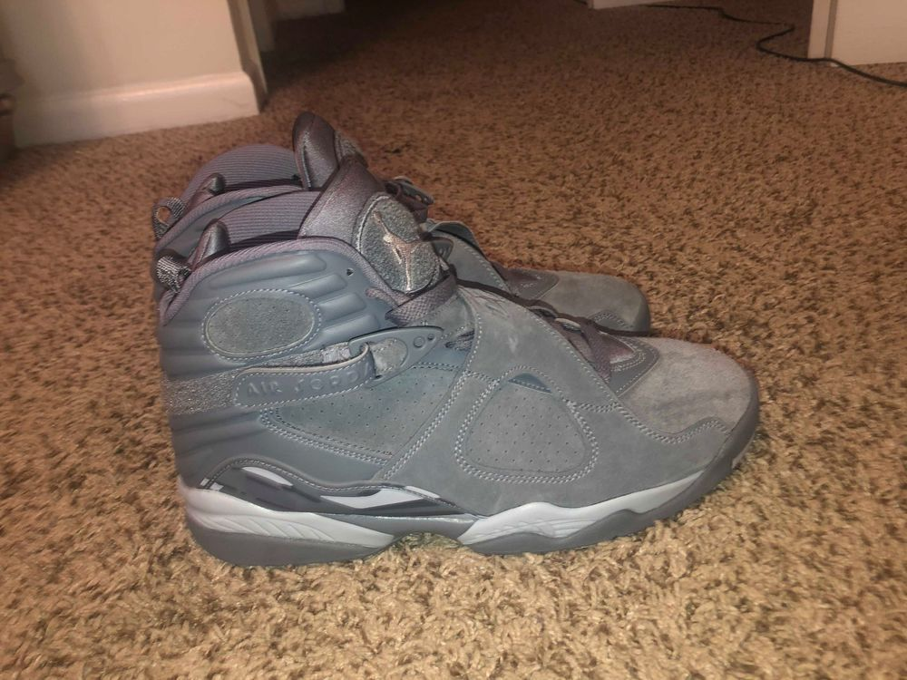 189ee73f7b153c Air Jordan 8 Retro VIII Men s Cool Grey Wolf Gray Sz 11.5  fashion   clothing  shoes  accessories  mensshoes  athleticshoes (ebay link)