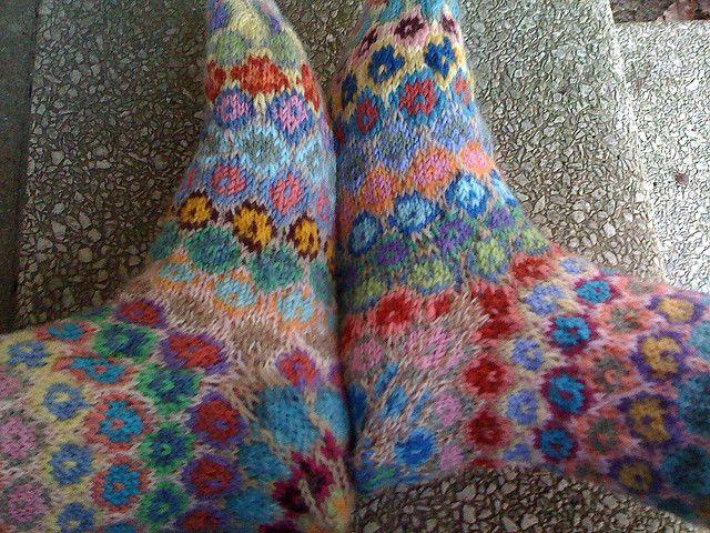 Kaffe/Turkish Socks, take 2   Flickr - Photo Sharing!