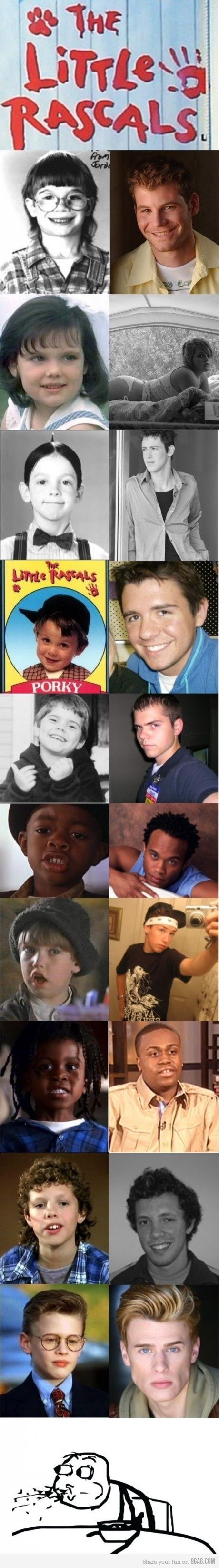 The Little Rascals (Then & Now)... you mean they grew up too?? :(