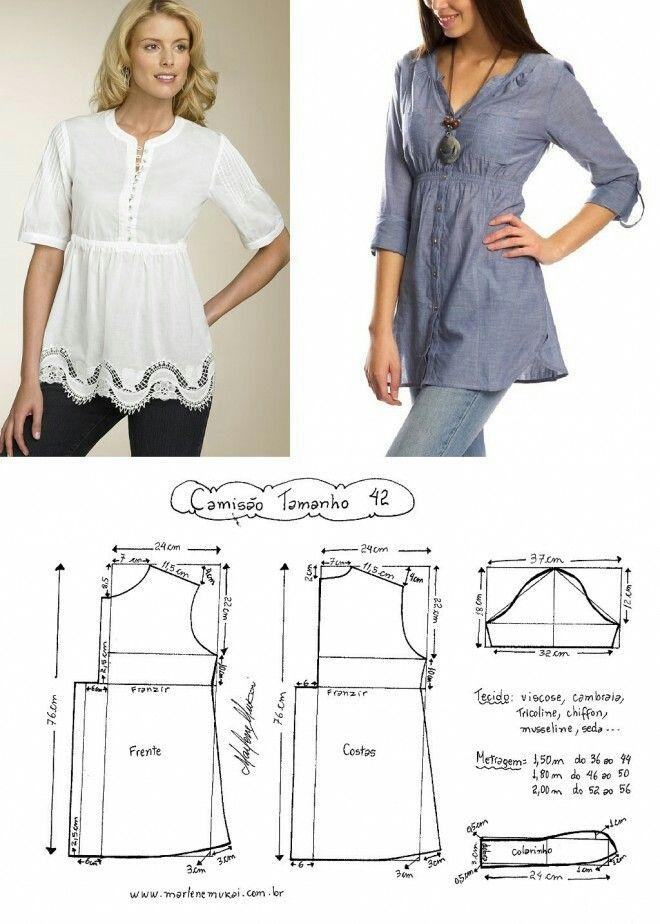 Long sleeved blouse..<3 Deniz <3 | abc | Pinterest | Nähen ...