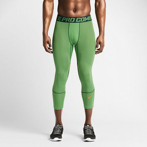 77926817c0be0 NWT Nike Hypercool Compression 3/4 Tight Pants men green orange 636161-361  #Nike #CompressionPants