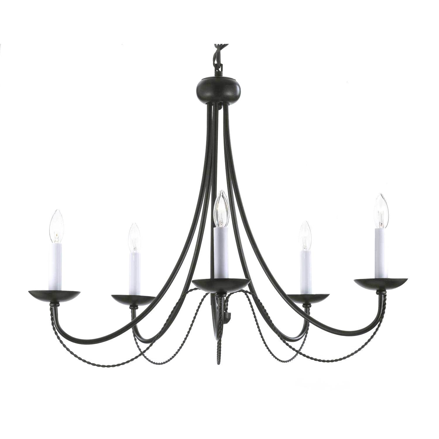 Draping curvy lines are constructed with wrought iron and