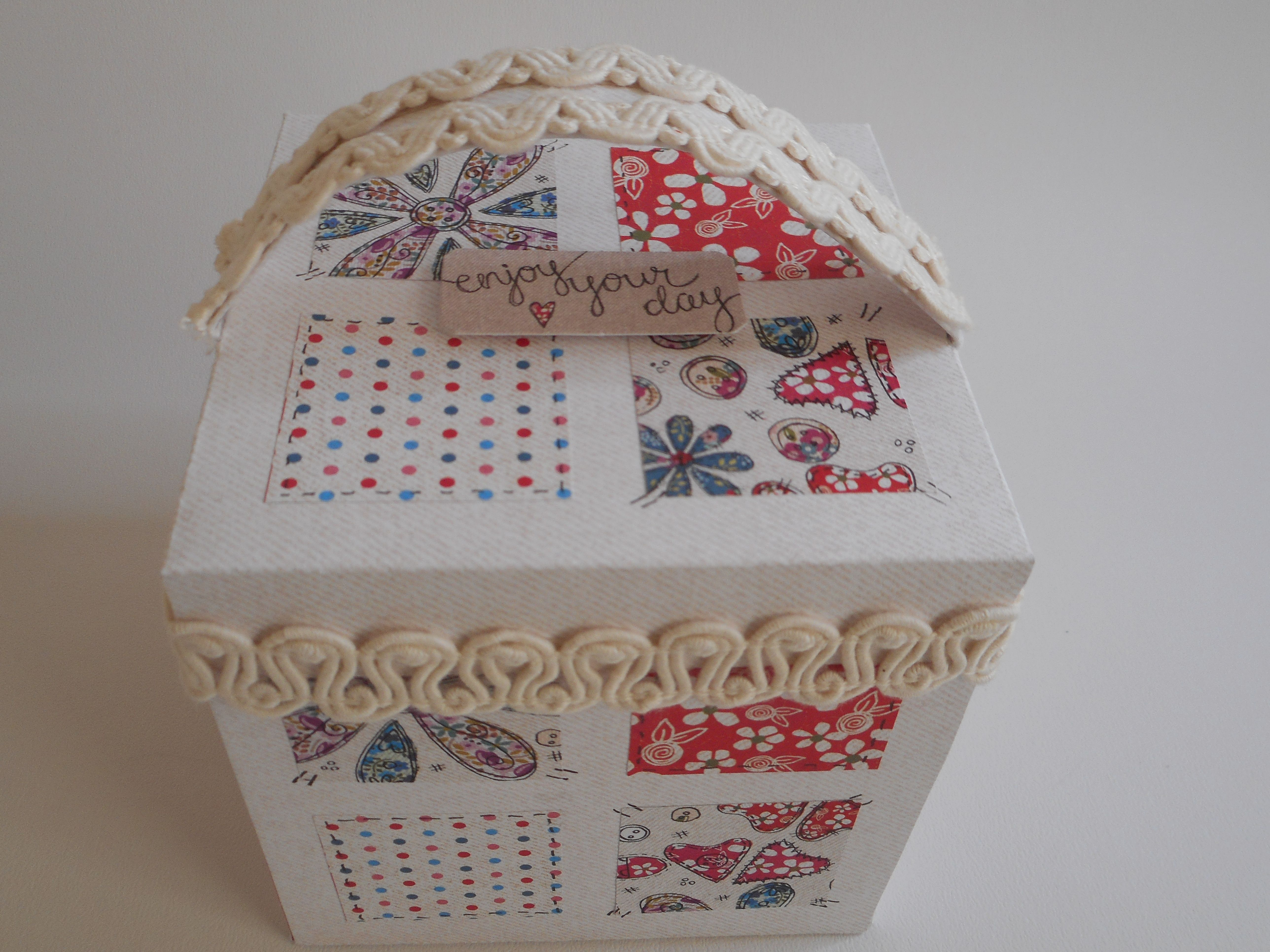 Top View of Exploding Sewing Box Card by Phillipa Lewis.