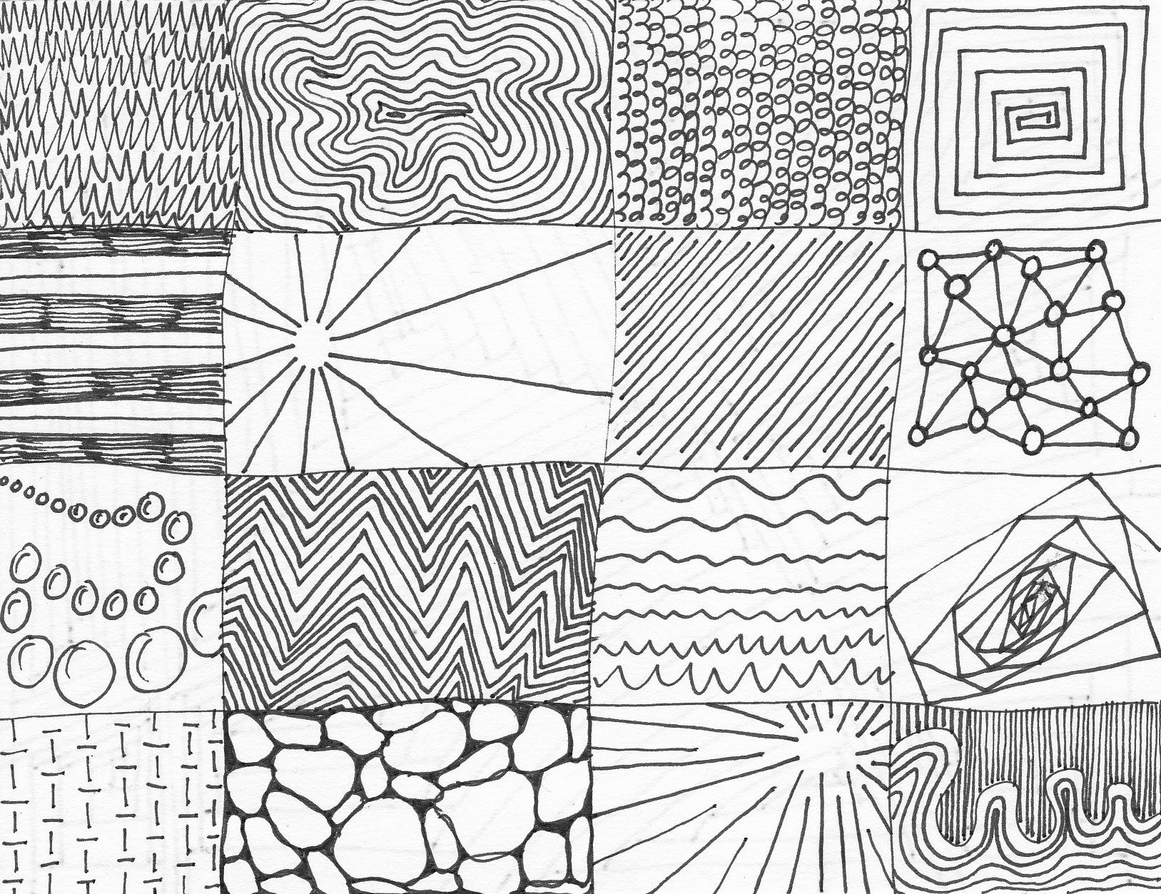 Line Drawing Texture Jpg 1627 1253 Line Patterns Designs To