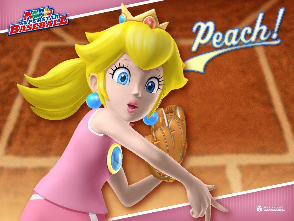 Mario Superstar Baseball Wallpapers Princess Peach Super Peach Peach