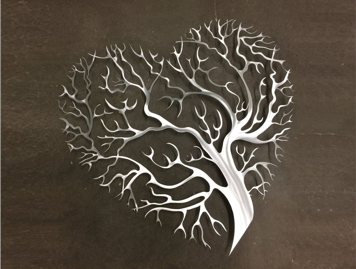 White Metal Art Tree Yoga Metal Wall Art  Large Metal Wall Decor  Tree Art