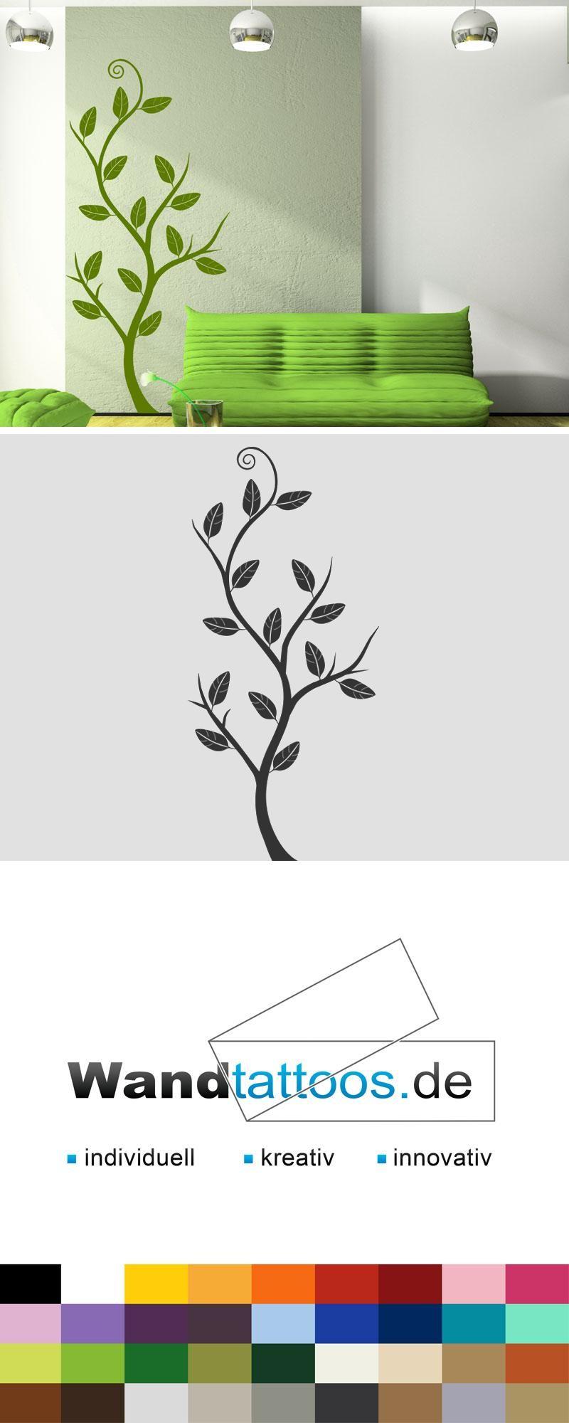 Wandtattoo Blatterbaumchen Baum Wandsticker Pflanzen Wandtattoos