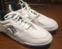 Vintage 80's FILA canvas sneakers tennis shoes size 9 1/2 unused