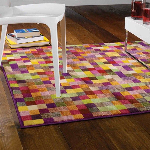 Retro Pixel Rugs In Multi Online From The Rug Er Uk 120 160x225cm