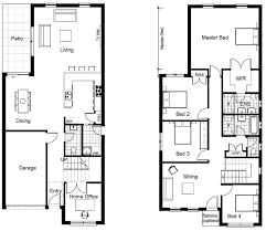 Image Result For 2 Storey Narrow House Plans Narrow House Plans House Plans Uk Narrow Lot House Plans