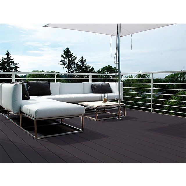 lame de terrasse composite c anthracite x cm. Black Bedroom Furniture Sets. Home Design Ideas