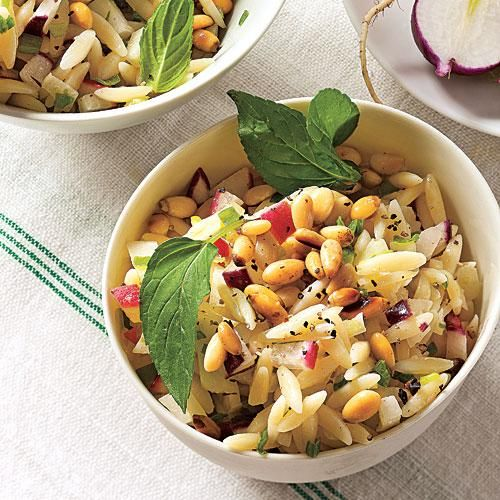 Orzo Salad with Radish and Fennel   Lemony dressing and fresh mint add vibrant flavor to this pasta salad.   Cooking Light
