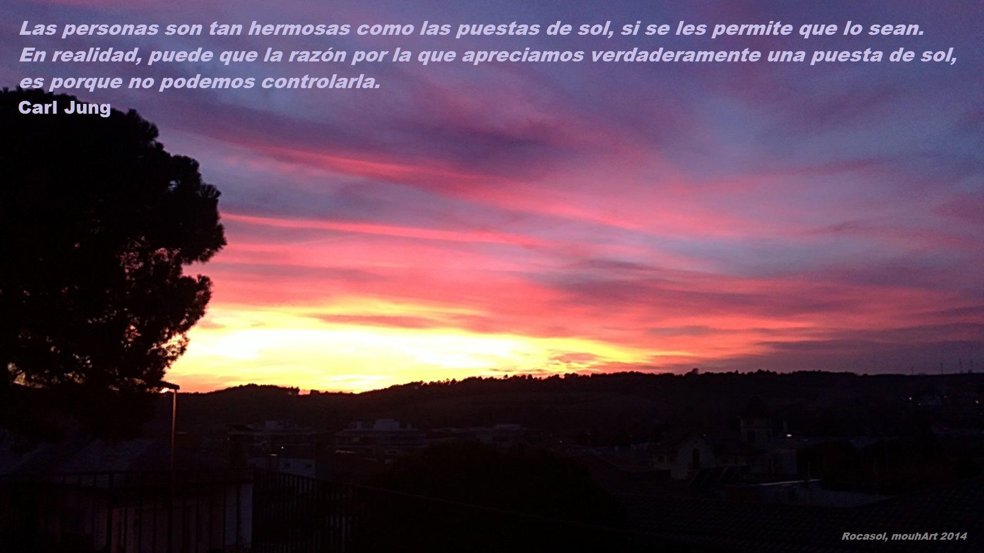 la belleza de una puesta de sol