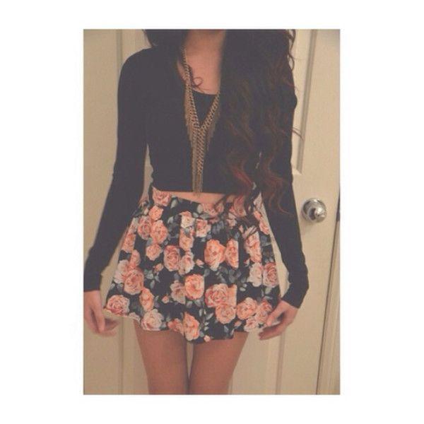Short black skirt tumblr