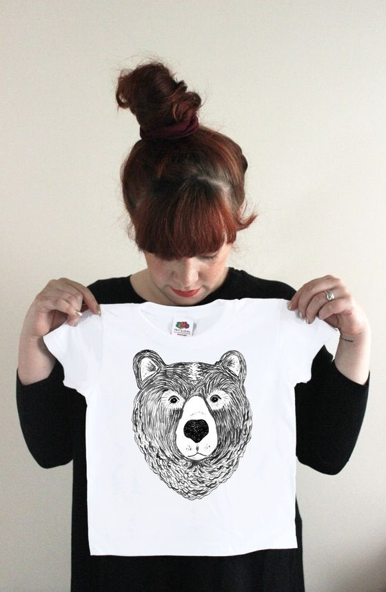 Image of 'Bertram the Bear' baby grow & t-shirts