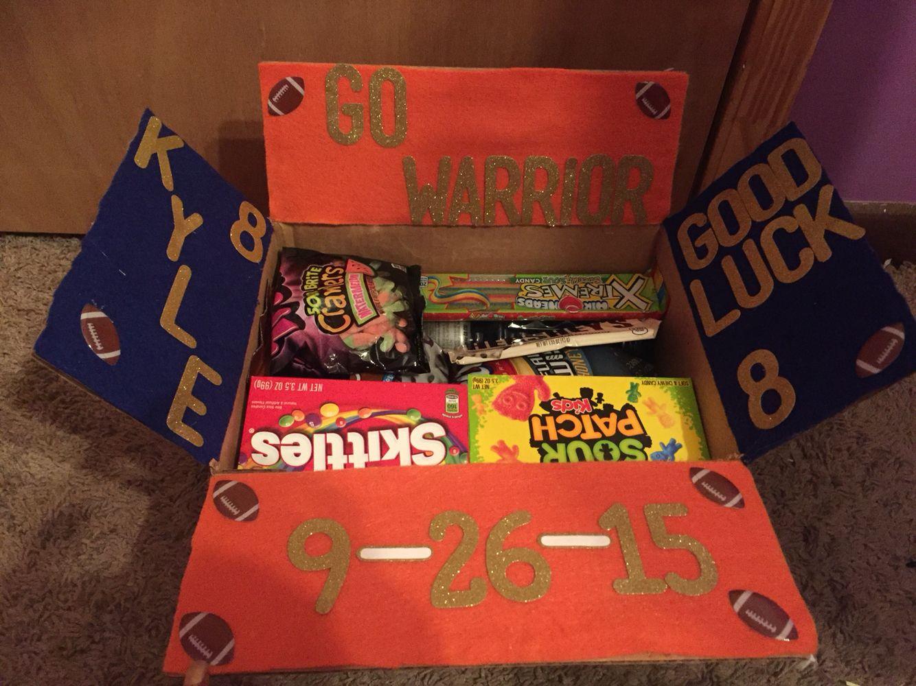 Football Care Package Idea Footballgirlfriend Christmas