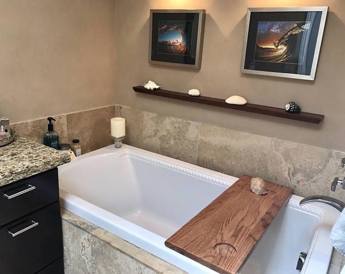 Bath Tub Caddy, bath tray, wood bathtub caddy, wood bathtub tray ...