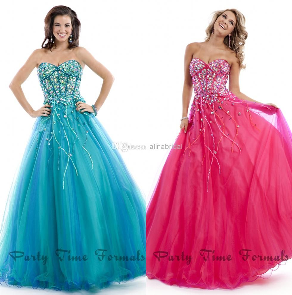 Wholesale Prom Dresses - Buy 2014 Prom Dresses Blue Fachsia ...