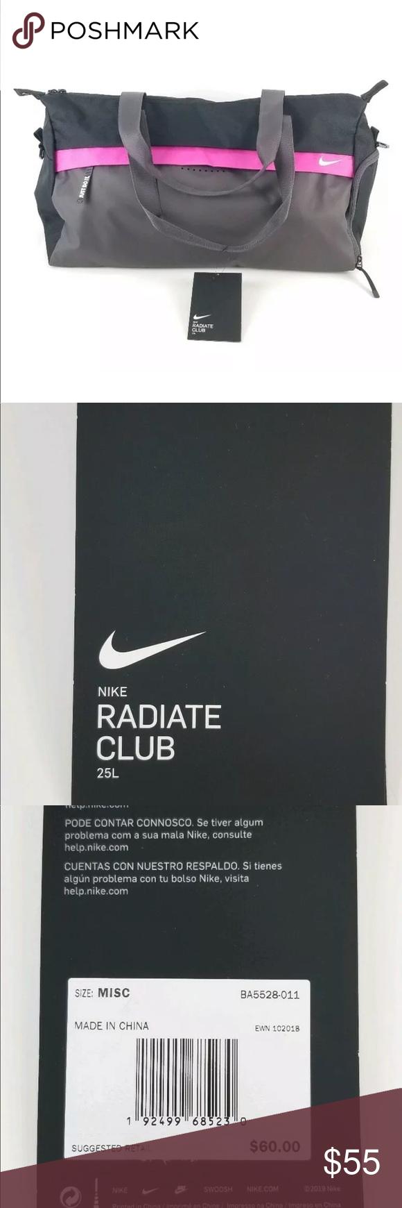 $60 Nike Radiate Club Gym Duffle Bag PinkBlack NWT | Pink