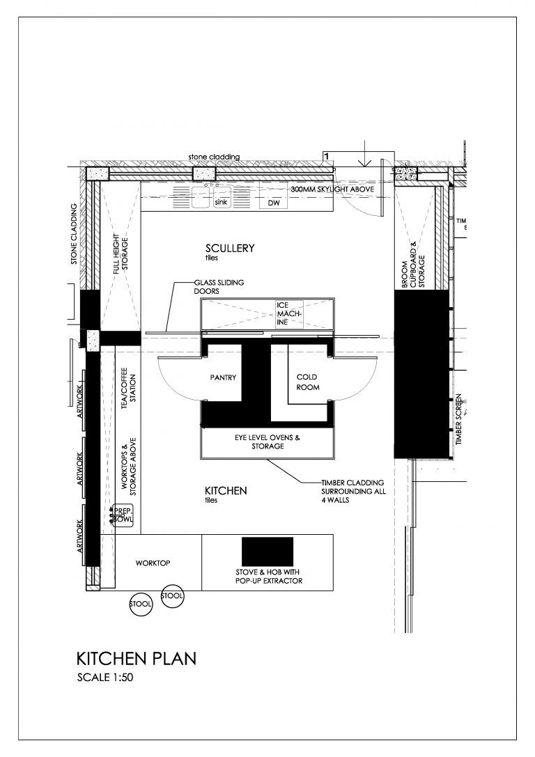 The Plans For This Stunning Kitchen Design Show The Exact Layout Of The Scullery Hidden Behind The Front O Kitchen Room Design Scullery Ideas House Floor Plans