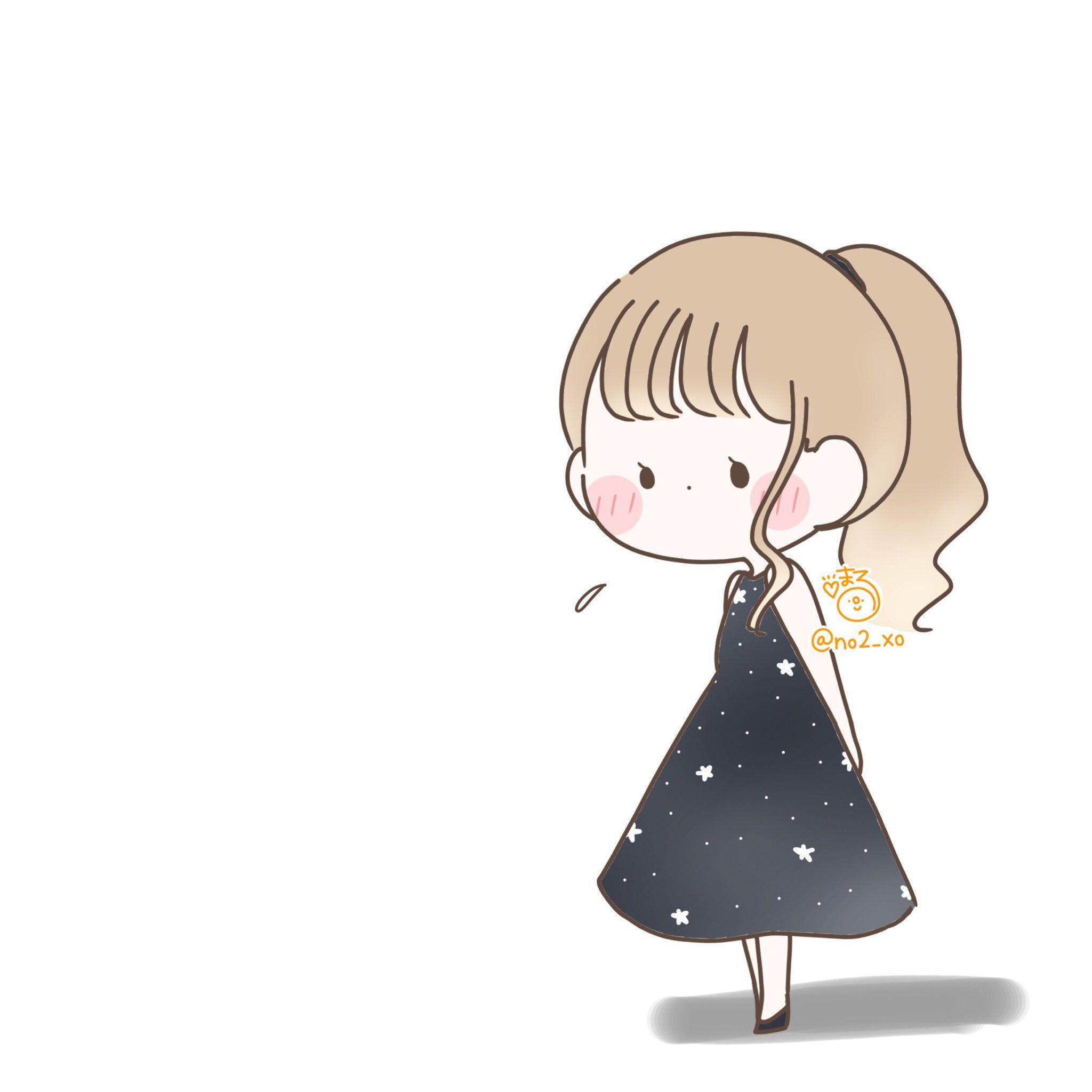 Twitter アニメの女の子のデッサン かわいい イラスト 手書き キャラクター イラスト