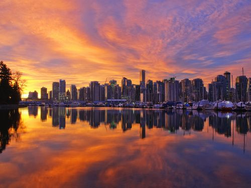 Reflections of Vancouver.