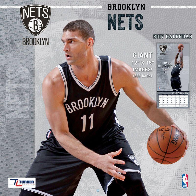 "Brooklyn Nets 12"" x 12"" 2017 Team Wall Calendar Brooklyn"