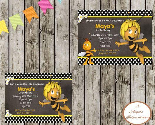 Maya The Bee Birthday Invitation Print Your By