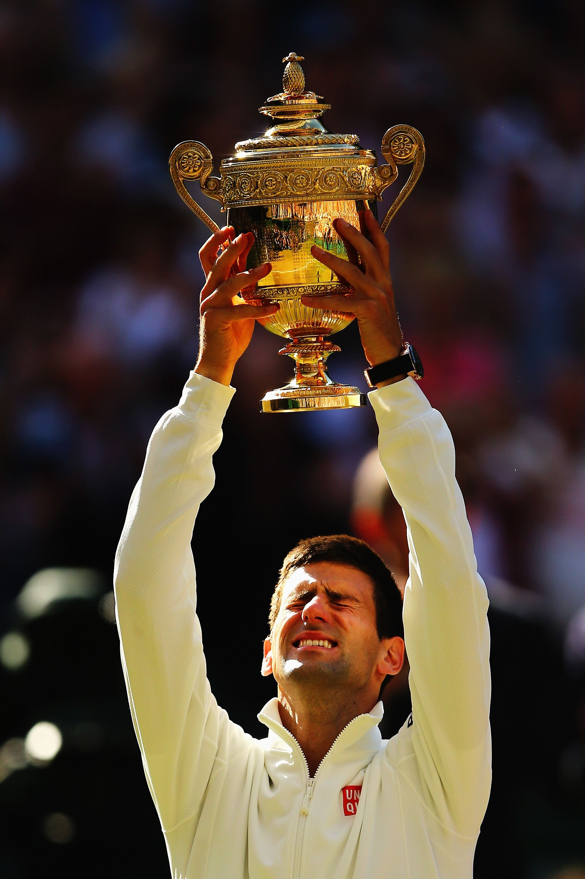 Novak Djokovic Of Serbia Poses With The Gentlemen S Singles Trophy Following His Victory In The Ge Tennis Professional Wimbledon Champions Tennis Championships