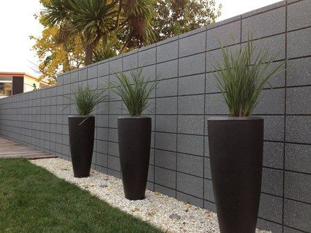 Image Result For Painted Masonry Block Nz Plastered Fence Wall Design Concrete Block Walls Concrete Retaining Walls