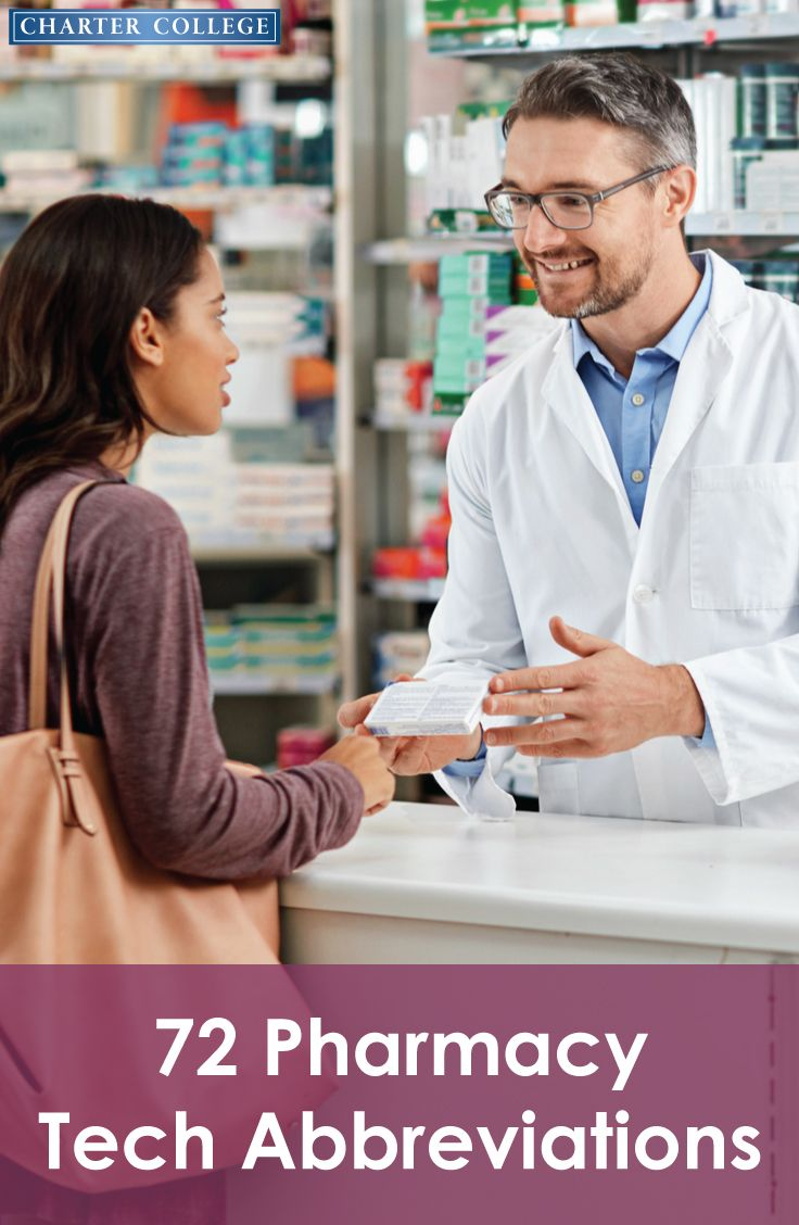 72 Abbreviations Every Pharmacy Tech Needs To Know Pharmacy Tech Healthcare Jobs Healthcare Careers