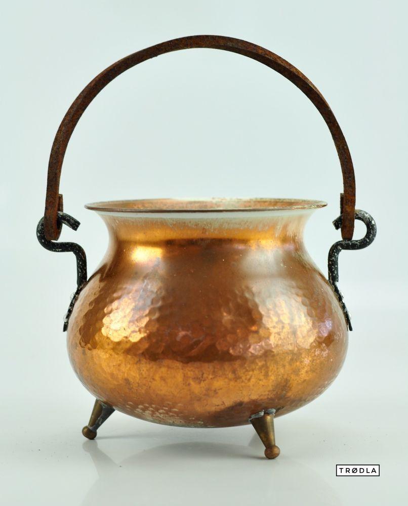 Kupfer Kessel Kupfertopf Wasserkessel Feuerkessel alt vintage copper ...