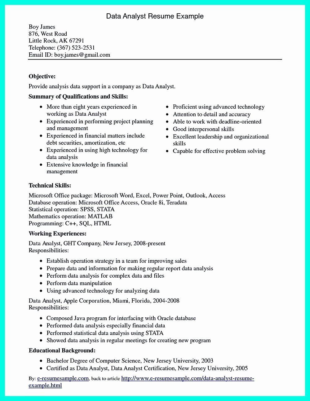 20 Healthcare Data Analyst Resume in 2020 Data analyst