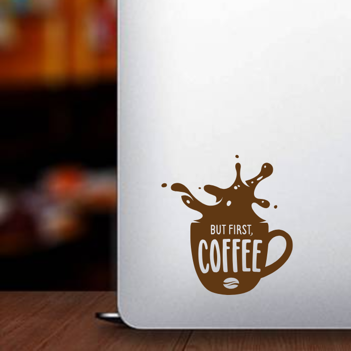 Caffeine Coffee Bean Morning Mug Drink Vinyl Decal Sticker Laptop Phone Coffee