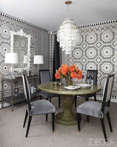 Moroccan Inspired Dining Room Elle Decor Dining Room Inspiration Enchanting Moroccan Inspired Living Room