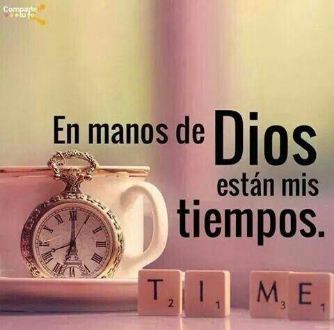 Salmos 31:15 En tu mano están mis tiempos.