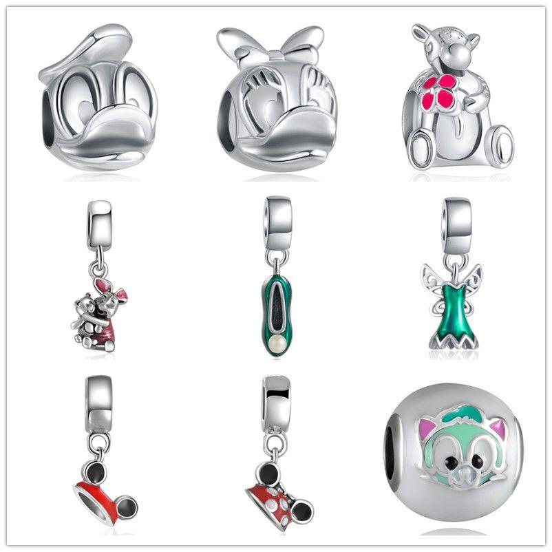 Flower European Silver CZ Charm Beads Fit sterling 925 Necklace Bracelet Chain