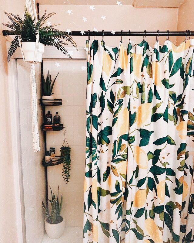 Boho Guest Bathroom Shower Curtains