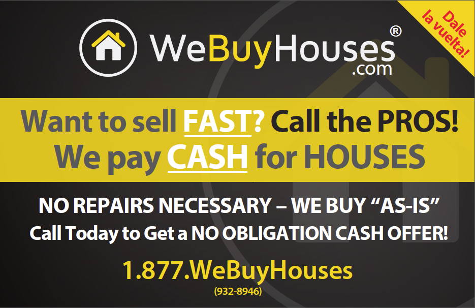 English front for our bi-lingual We Buy Houses post card | We Buy ...