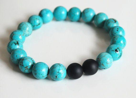 Mens Bracelets Jewelry Turquoise Beaded Bracelet Uni