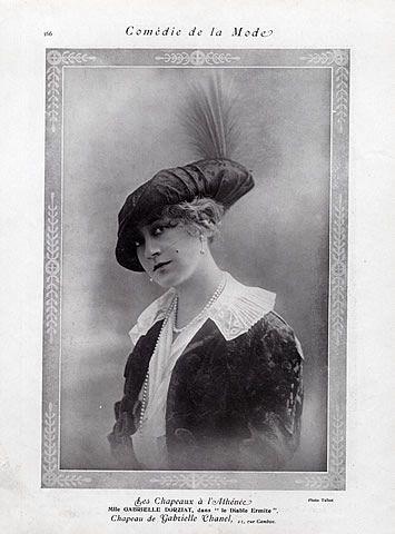 69e8fe6a349 Chanel (Hat) 1912 Gabrielle Dorziat
