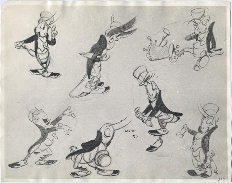 Early Versions Of Jiminy Cricket By Ward Kimball From Disney S Pinocchio 1940 Disney Drawings Disney Art Disney Magical World