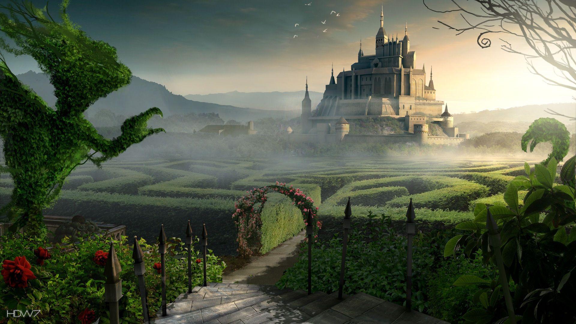 maze castle fantasy desktop 1920x1080 - hd wallpaper gallery #307