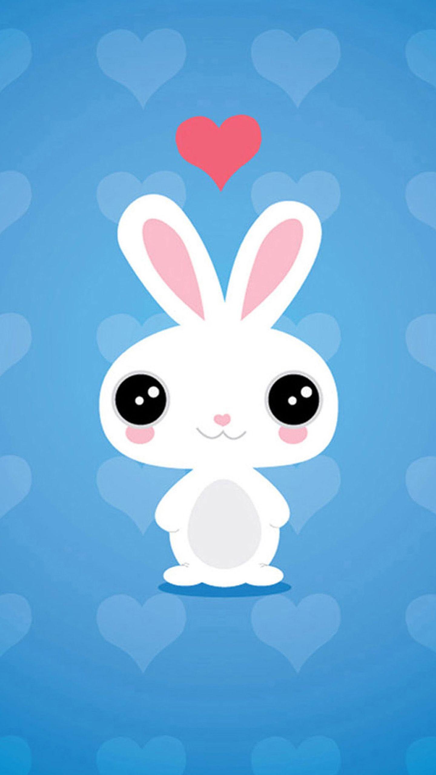 Cute Bunny Wallpaper Wallpaper Iphone Cute Cute Cartoon