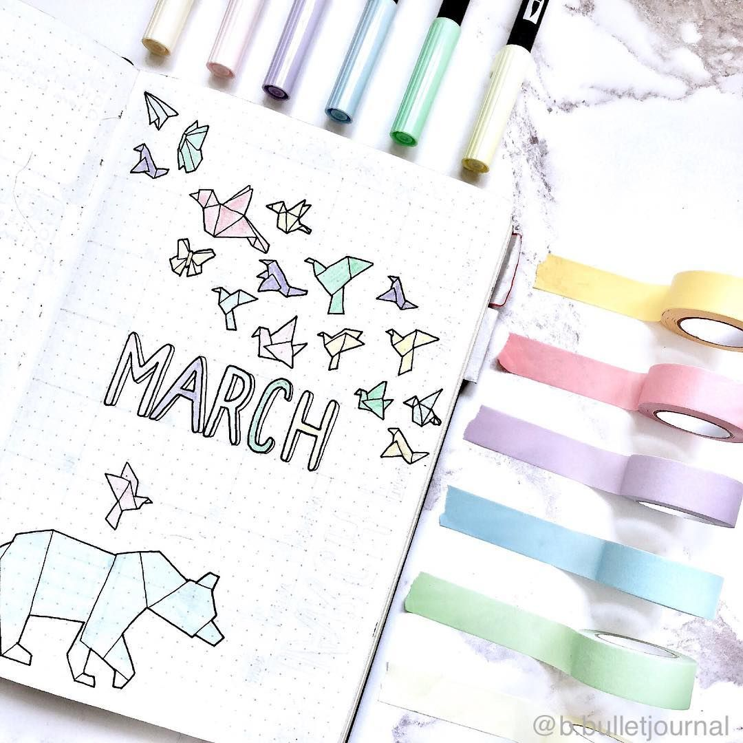 20+ March Bullet Journal Spreads and Plan with Me video!