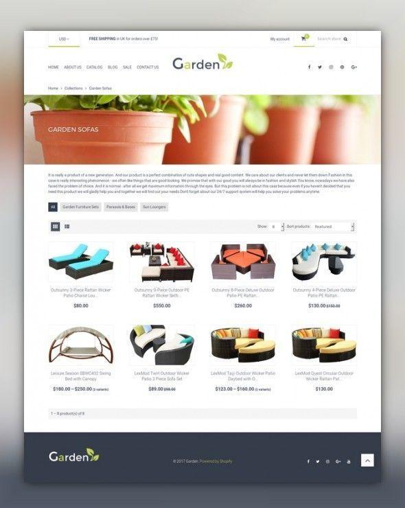 Garden Design Responsive Shopify Theme E-commerce Templates, Shopify ...